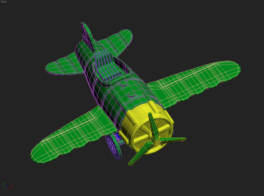 aircraft royalty-free 3d model - Preview no. 2