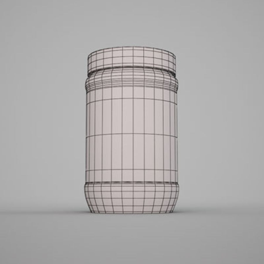 Peanut butter jar by 3DRivers royalty-free 3d model - Preview no. 6