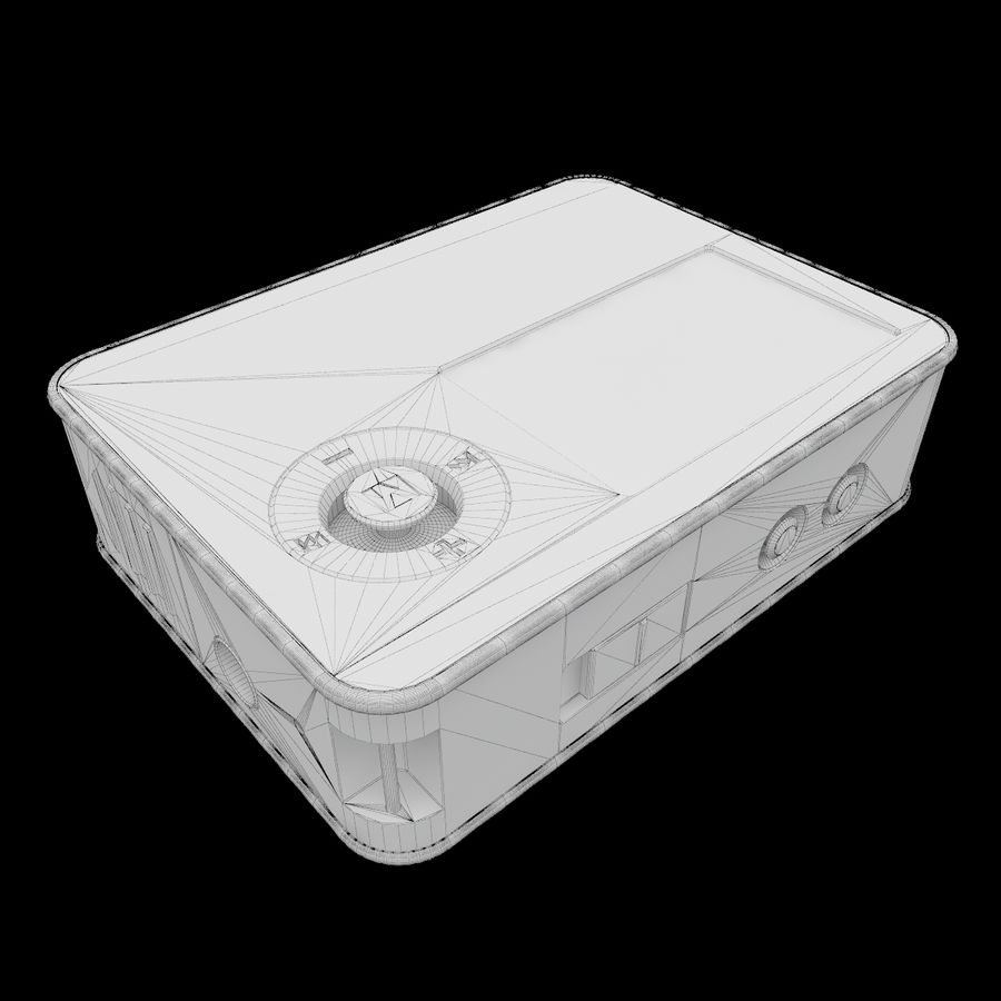 Audio Player BBKx17 royalty-free 3d model - Preview no. 9