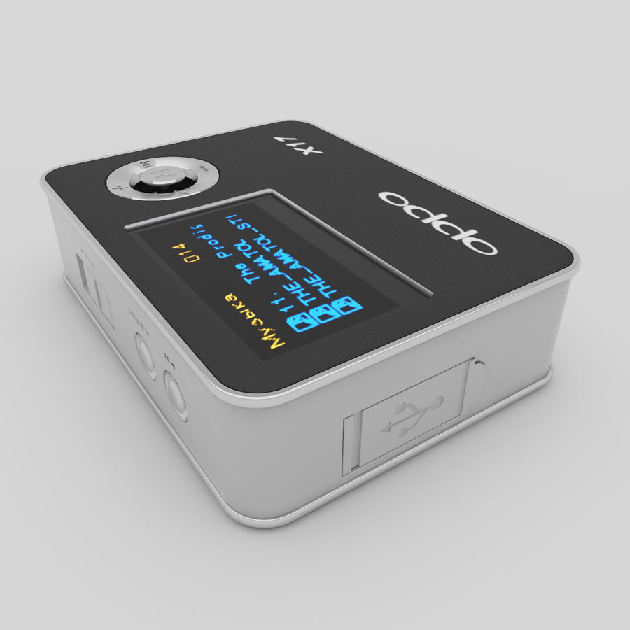 Audio Player BBKx17 royalty-free 3d model - Preview no. 3