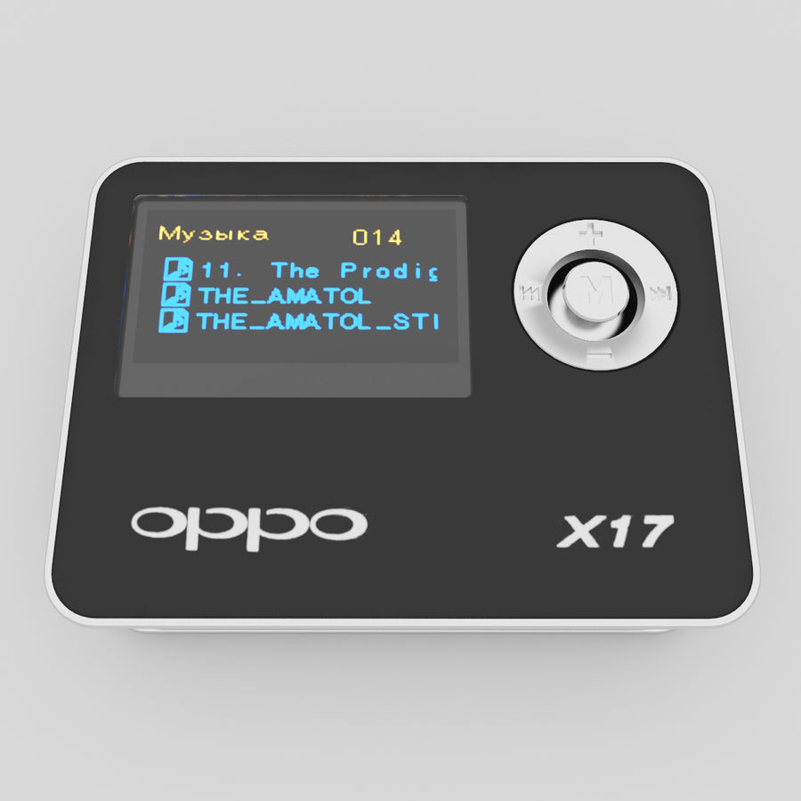 Audio Player BBKx17 royalty-free 3d model - Preview no. 6