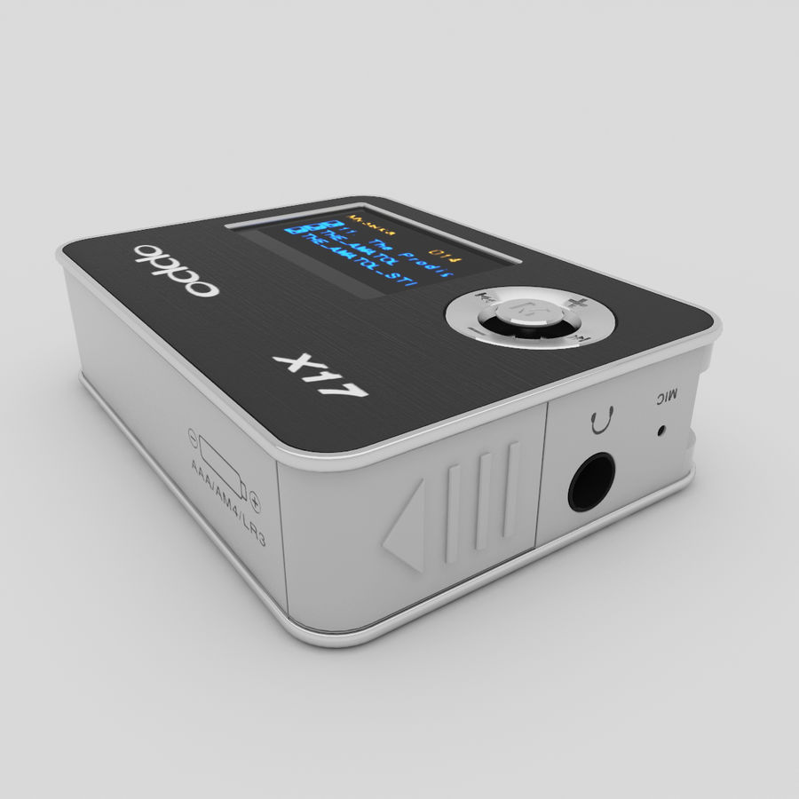 Audio Player BBKx17 royalty-free 3d model - Preview no. 5