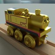 Thomas Tankmotorn Golden Wooden Railway Toy 3d model