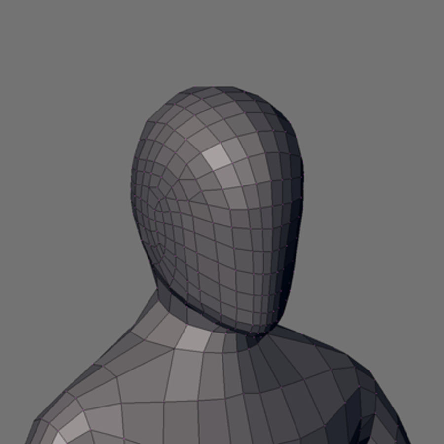 Simple body royalty-free 3d model - Preview no. 5