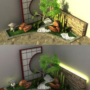 Jardim japonês 3d model