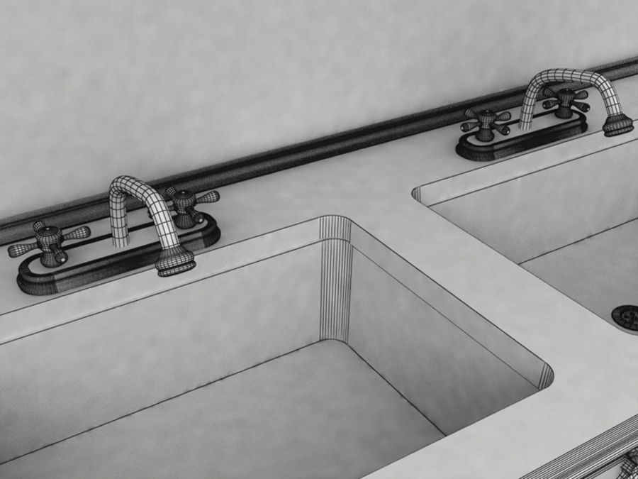 Sink royalty-free 3d model - Preview no. 8