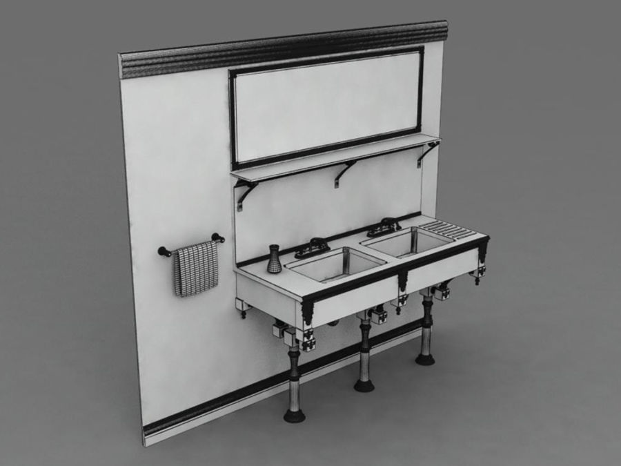 Sink royalty-free 3d model - Preview no. 7