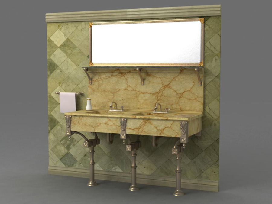 Sink royalty-free 3d model - Preview no. 2