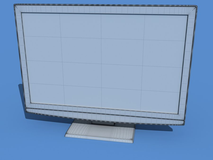 samsung LCD TV LE26B350 royalty-free 3d model - Preview no. 2