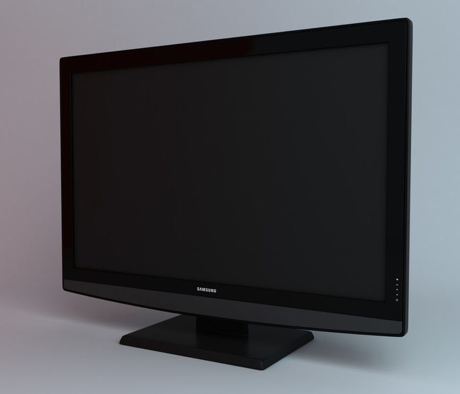 samsung LCD TV LE26B350 royalty-free 3d model - Preview no. 1