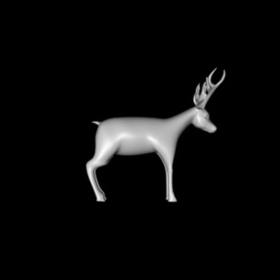 Deer royalty-free 3d model - Preview no. 1