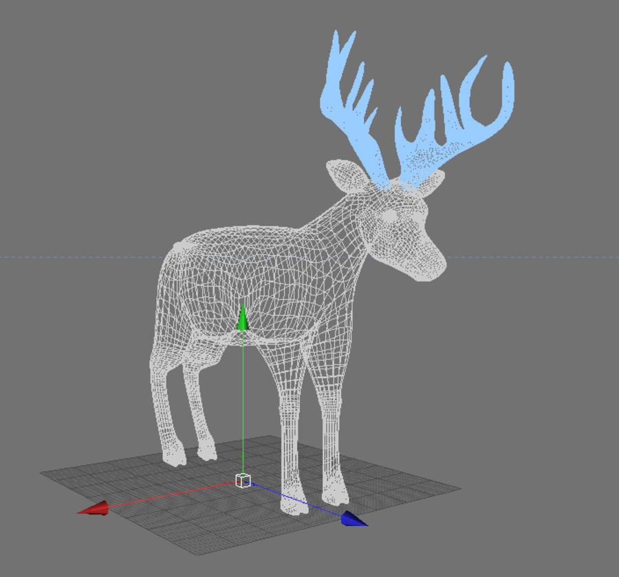 Deer royalty-free 3d model - Preview no. 4