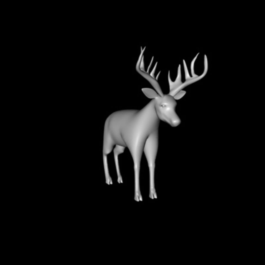 Deer royalty-free 3d model - Preview no. 2