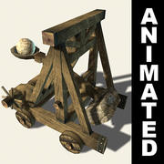 カタパルトのアニメーション 3d model