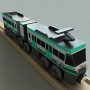 Metrolink Wooden Railway Toy Train 3d model
