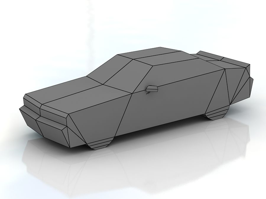 dodge challenger lowpoly royalty-free 3d model - Preview no. 3