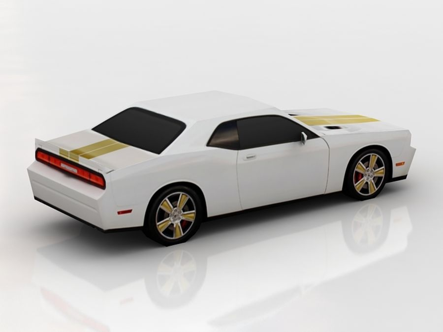 dodge challenger lowpoly royalty-free 3d model - Preview no. 4