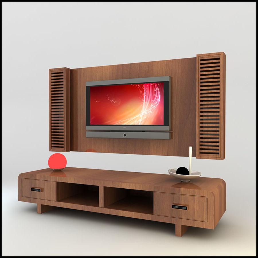 TV / Wall Unit Modern Design X_11 3D Model $25 -  unknown  obj  dwg