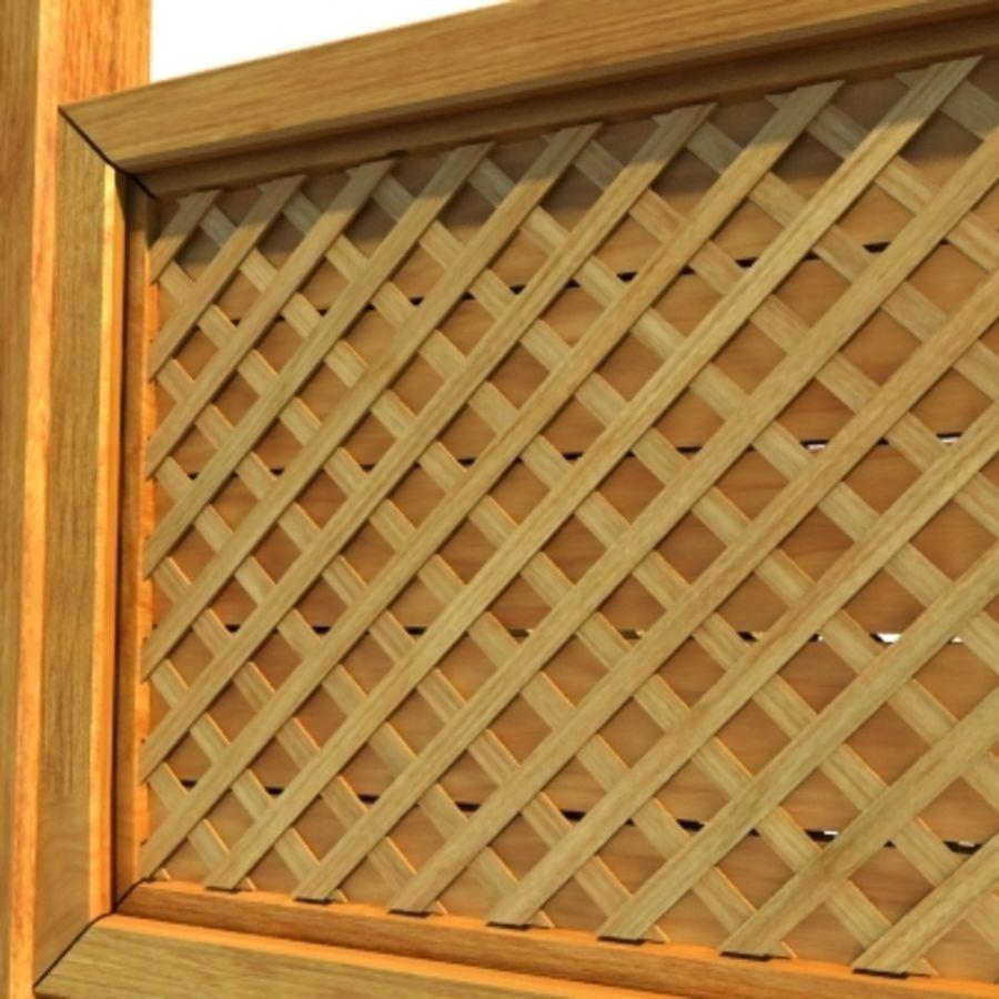 Zaun aus Holz Fechten HD royalty-free 3d model - Preview no. 6