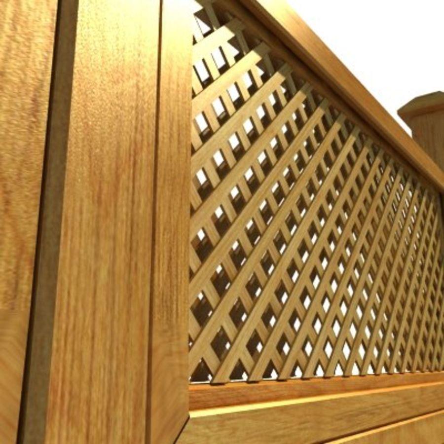 Zaun aus Holz Fechten HD royalty-free 3d model - Preview no. 5