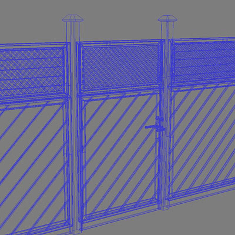Zaun aus Holz Fechten HD royalty-free 3d model - Preview no. 7