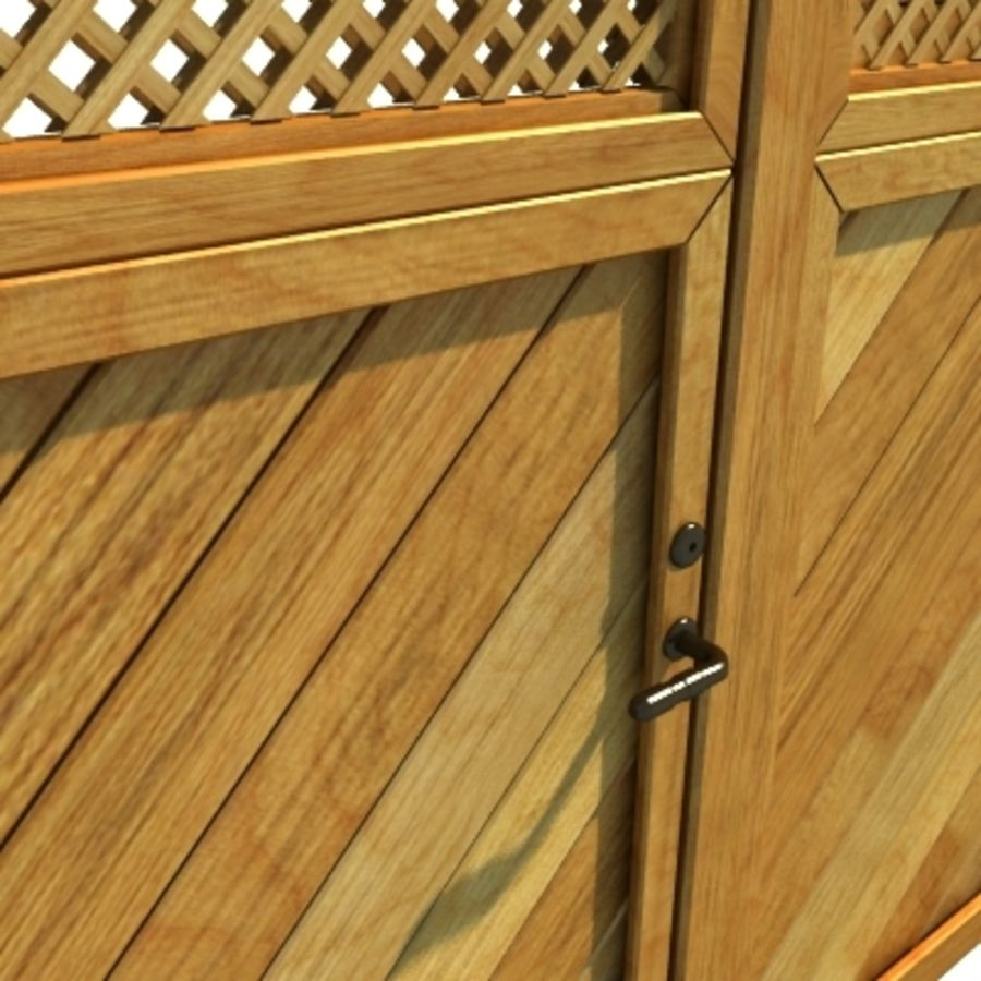 Zaun aus Holz Fechten HD royalty-free 3d model - Preview no. 4