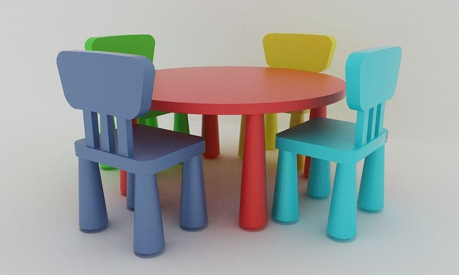 Ikea Mammut Stühle Und Tisch 3d Modell 10 Unknown Obj Max 3ds