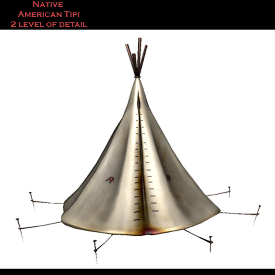 Native American Indian Tipi royalty-free 3d model - Preview no. 2