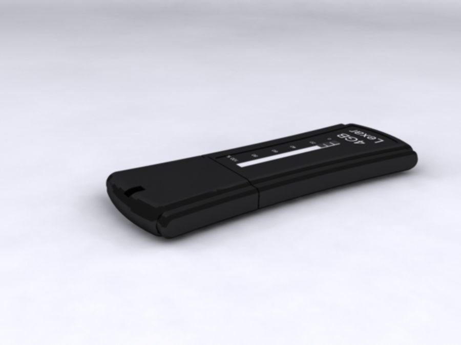 usb flash drive,3ds,obj royalty-free 3d model - Preview no. 2