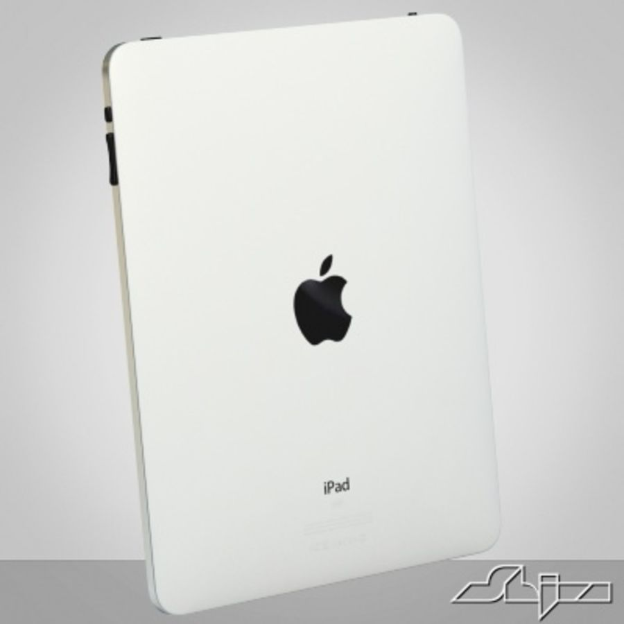 Apple IPad Tablet Computer royalty-free 3d model - Preview no. 2