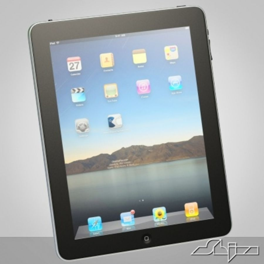Apple IPad Tablet Computer royalty-free 3d model - Preview no. 1