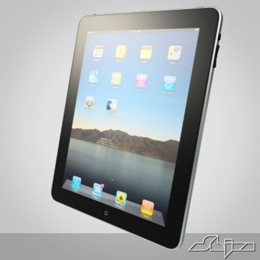 Apple IPad Tablet Computer royalty-free 3d model - Preview no. 4