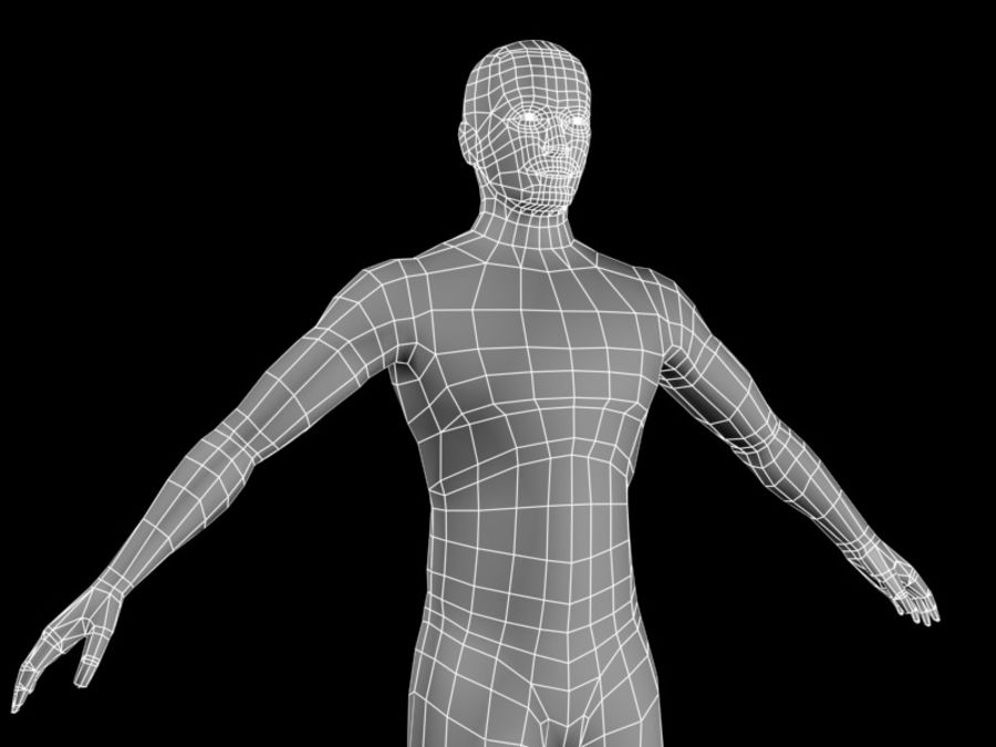 corpo maschile 2 royalty-free 3d model - Preview no. 3