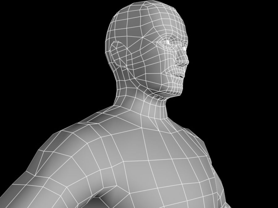 corpo maschile 2 royalty-free 3d model - Preview no. 9