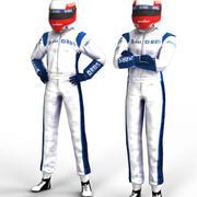 Piloto de F1 modelo 3d
