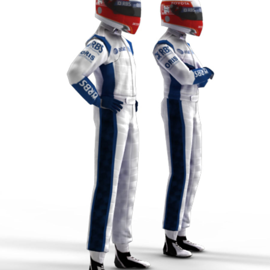 Pilote de la F1 royalty-free 3d model - Preview no. 2