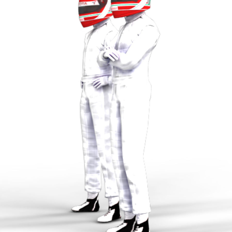 Blank Driver - Racing pilote royalty-free 3d model - Preview no. 3