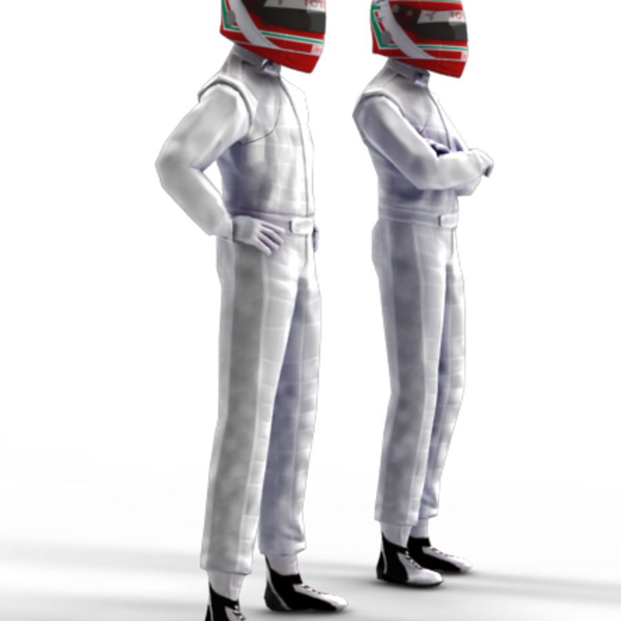 Blank Driver - Racing pilote royalty-free 3d model - Preview no. 2