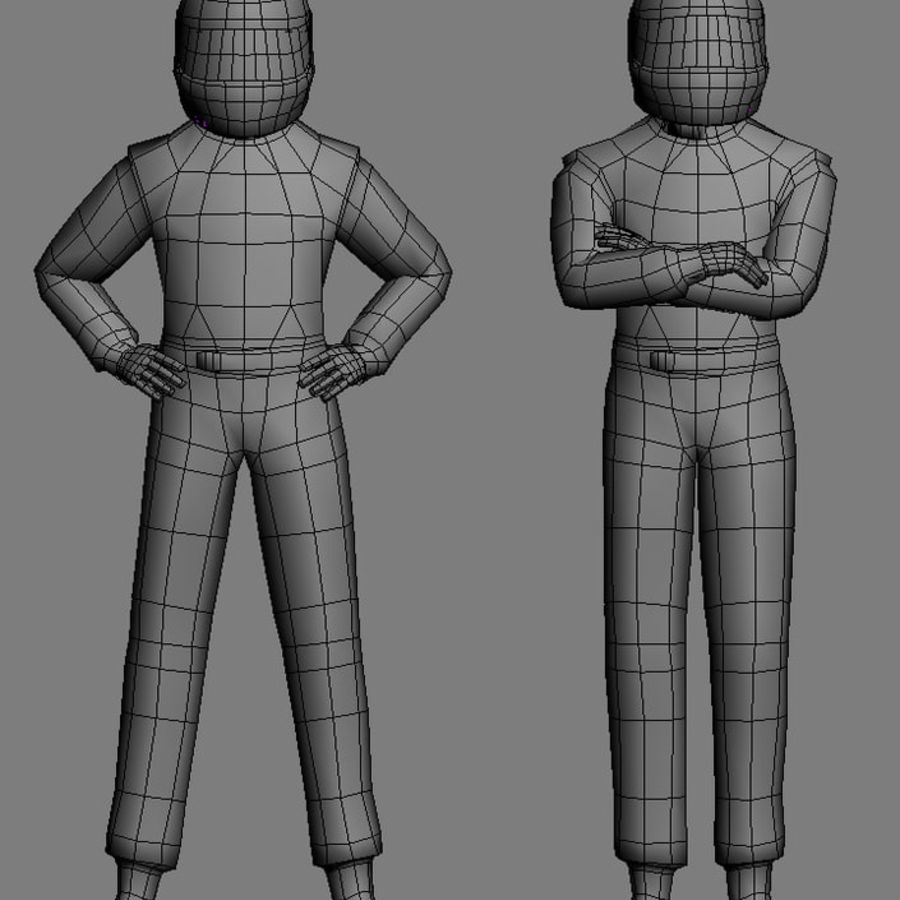 Blank Driver - Racing pilote royalty-free 3d model - Preview no. 5