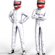 Driver en blanco - Pilote de carreras modelo 3d