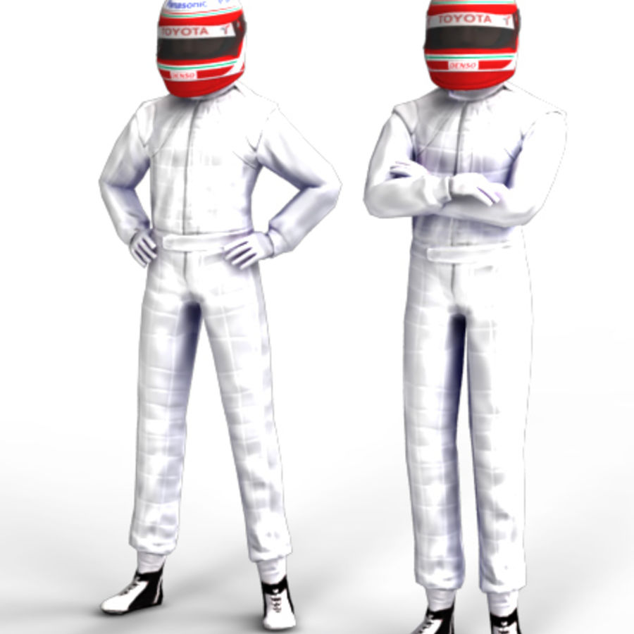 Blank Driver - Racing pilote royalty-free 3d model - Preview no. 1