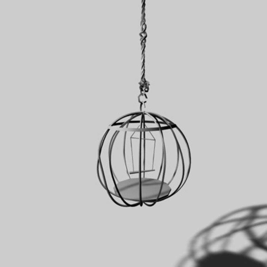 Bird Cages royalty-free 3d model - Preview no. 5