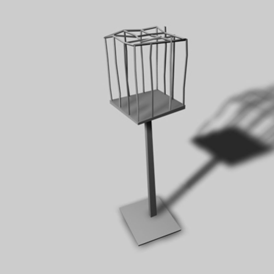 Клетки для птиц royalty-free 3d model - Preview no. 6