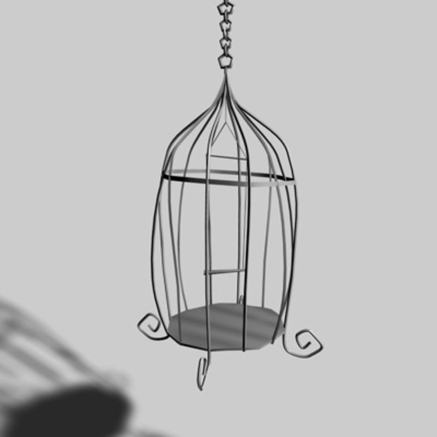 Bird Cages royalty-free 3d model - Preview no. 2
