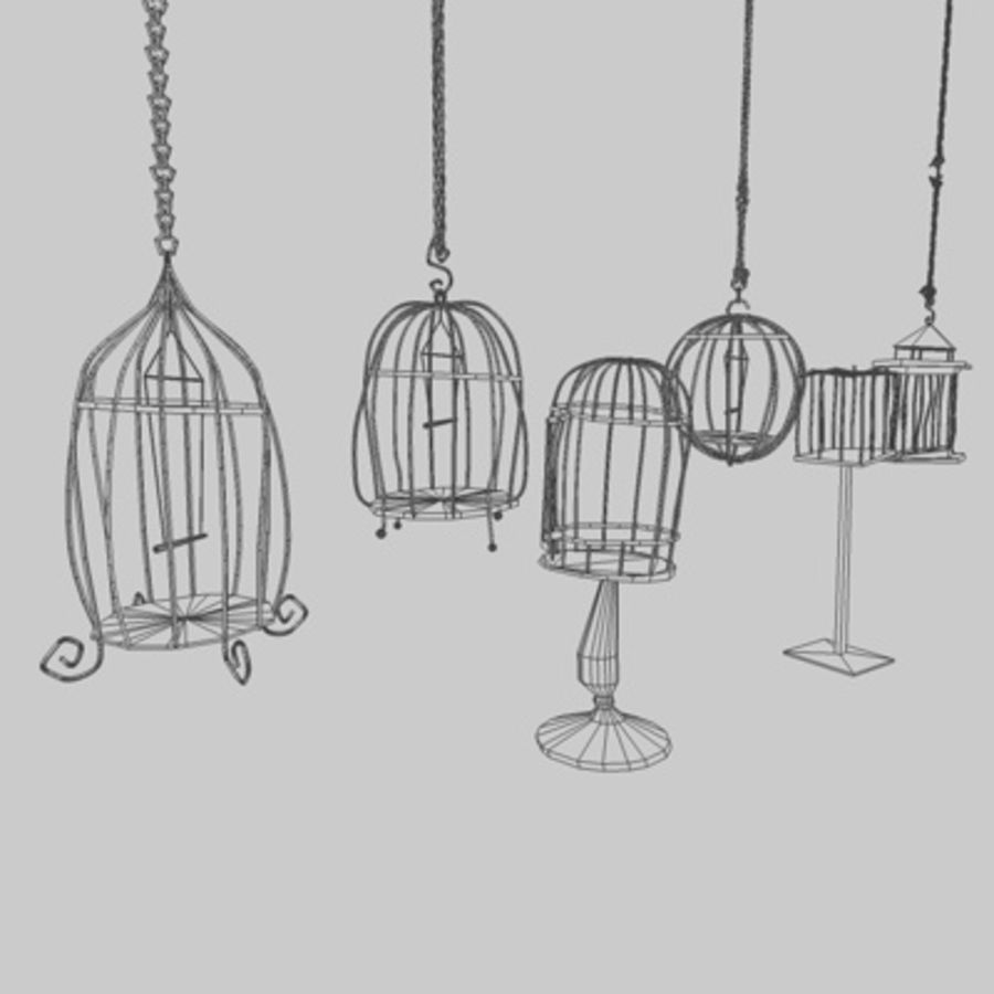 Клетки для птиц royalty-free 3d model - Preview no. 3