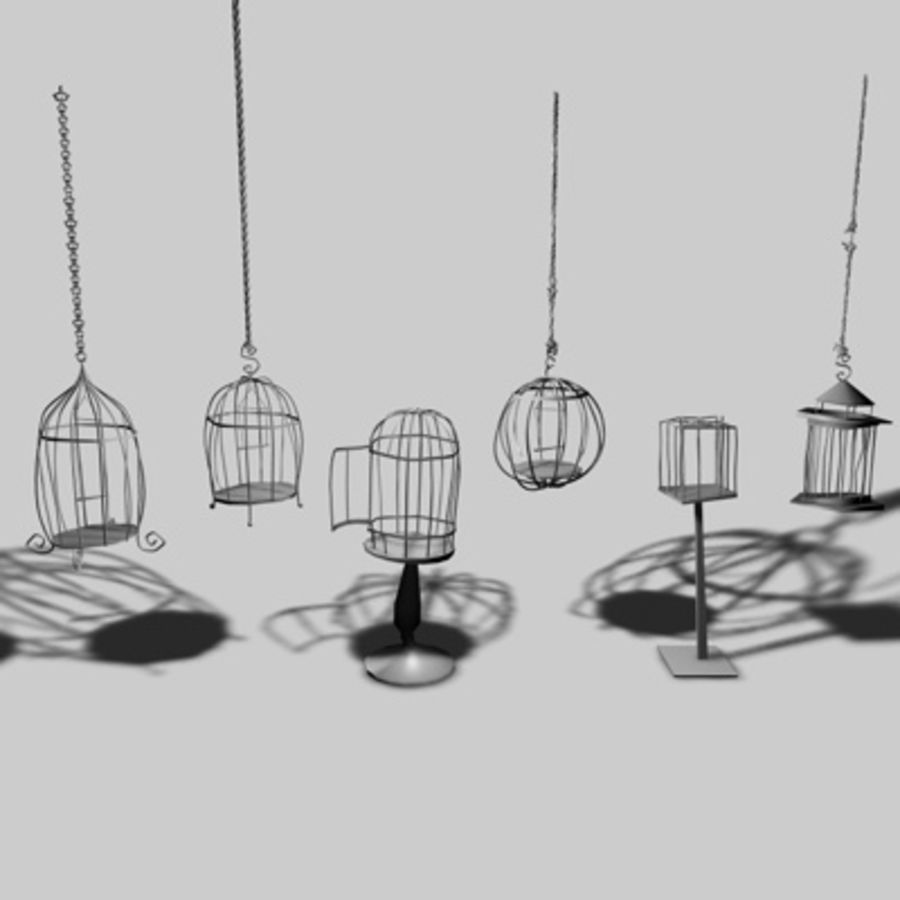 Bird Cages royalty-free 3d model - Preview no. 1