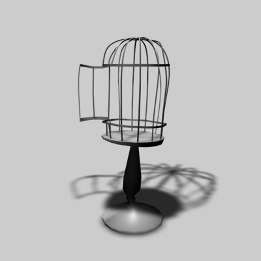 Bird Cages royalty-free 3d model - Preview no. 4