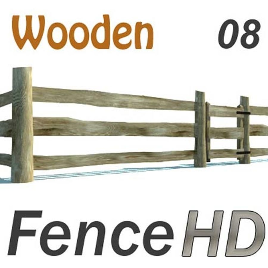 Agricultural fence royalty-free 3d model - Preview no. 1