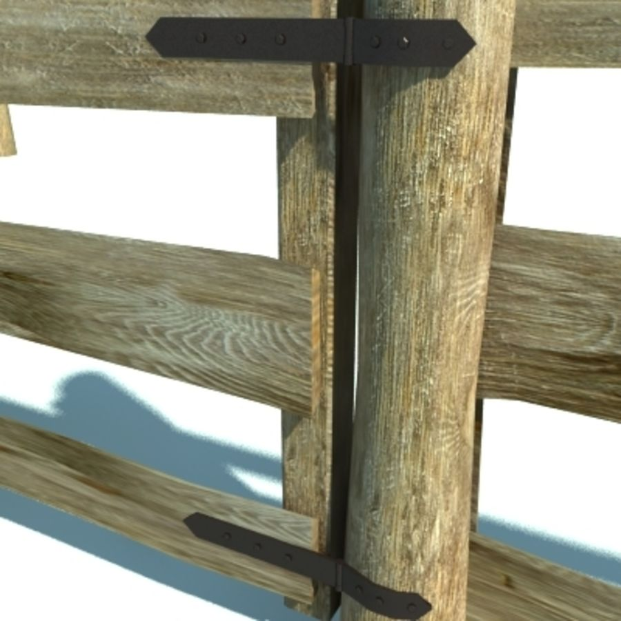 Agricultural fence royalty-free 3d model - Preview no. 3