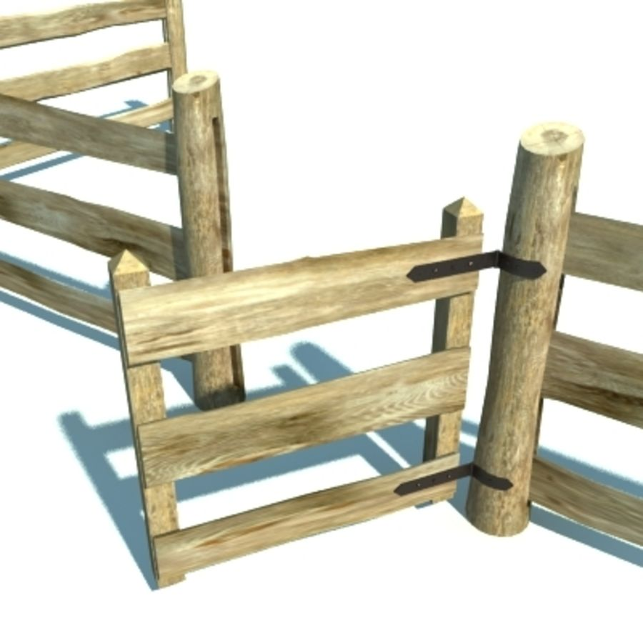 Agricultural fence royalty-free 3d model - Preview no. 4